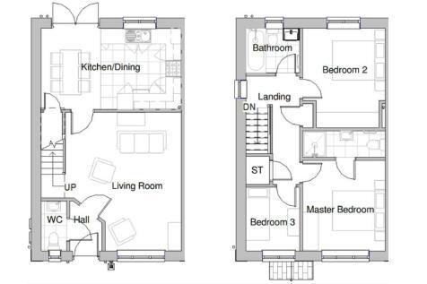 13 Cae Mair, Dyffryn Clwyd, Ruthin - Plot 57. 3 bedroom house