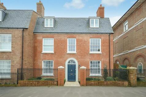 Crown Street West, Poundbury. 4 bedroom end of terrace house