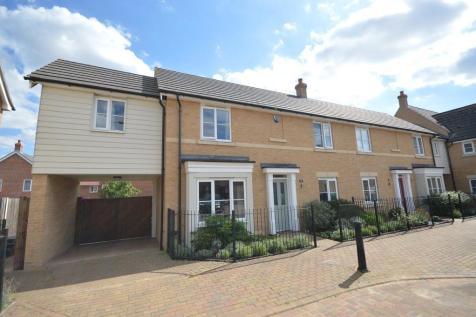 Saw Mill Road, Colchester. 3 bedroom end of terrace house
