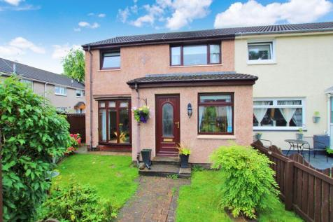 Coursington Place, Motherwell. 3 bedroom end of terrace house