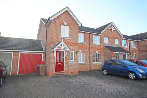 Old Bourne Way, Stevenage, SG1 6AE. 3 bedroom end of terrace house for sale