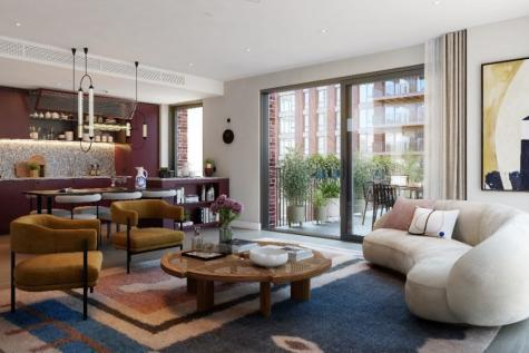 Viaduct Gardens, London, SW11. 2 bedroom apartment for sale