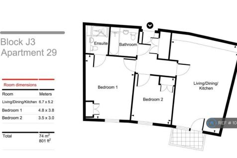 John Thornycroft Road, Southampton, SO19. 2 bedroom flat